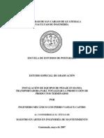 INSTALACIÓN DE EQUIPOS DE PESAJE EN BANDA