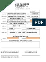 Formato de Reporte de Garantias