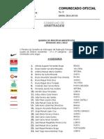 CO003 Quadro Arbitros Assistentes 2011 2012