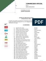 CO006 Quadro Arbitros Futsal 2011 2012