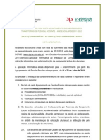 Nota Informativa - Aplicação informática da Indicação da Componente Lectiva