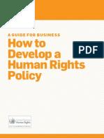 Derechos Humanos Policy Guide