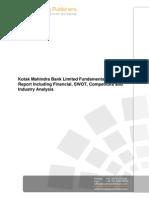 Kotak Mahindra Bank Limited Swot Analysis Bac