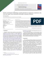 Kinetics and Deposit Morphology of Gold Cemented on Magnesium Aluminum Zinc