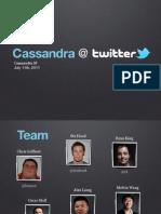 Cassandra at Twitter