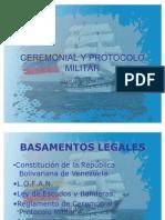 Ceremonial y Protocolo Militar 1