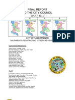 Sacramento Redistricting Citizens Advisory Committee Final Report 07-07-11