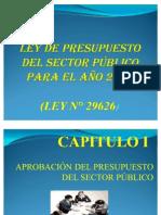 LEY DE PRESUPUESTO DEL SECTOR PÚBLICO PARA EL