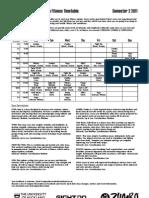 Timetable Sem 2 2011