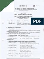 Biên bản họp ban chỉ đạo dự án số 2