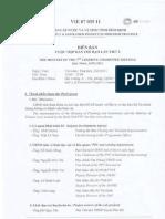 Biên bản họp ban chỉ đạo dự án số 3
