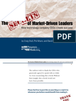 Secrets Market Driven Leaders