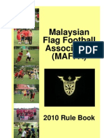 MAFFA Flag Football Rule Book - MFFL 2010 v1.1.0