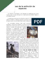 Causas de la extinción de especies