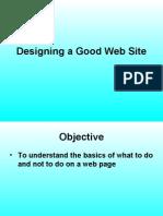 Designing a Good Web Site