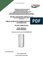 Análisis de Objeto Técnico El Refrigerador
