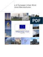 Catalogue of European Urban Wind Turbine Manufacturers