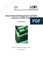Basic Financial Management and Ratio Analysis for MFIs Toolkit