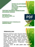 Materi Sosialisasi Permendagri Nomor 21 Tahun 2011