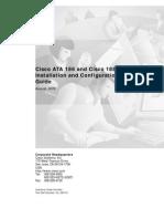 Cisco ATA 186 and Cisco 188 Installation and Configuration Guide