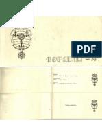 Convite Para Entrega do Espadim da Turma de 1974 da Escola Naval Brasileira