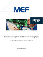 Understanding Carrier Ethernet Throughput