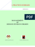 Management of -Dengue Fever in Children