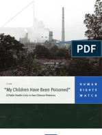 """""""My Children Have Been Poisoned""""   China"""