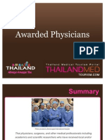 Awarded Physicians in Thailand