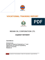 Vocational Training Report, Indian Oil Corporation Limited, Gujarat Refinery