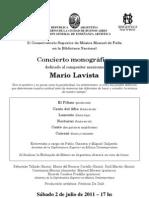Afiche Lavista - Conservatorio Manuel de Falla