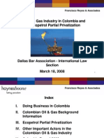 The Oil and Gas Industry in Columbia
