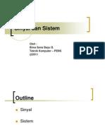 Materi Sinyal, Sistem Dan Kontrol 1