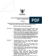 KMK No. 1013 Ttg Penetapan Kelas RSUS Delta Surya Sbg RSUS Madya