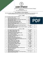 List of Medical & Dental Colleges
