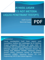 Pengujian Hasil Lasan Dengan Tes Ndt Metoda Liquid