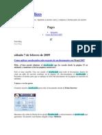 Como Aplicar Encabezados Solo en Parte de Un Documento Con Word 2007