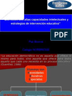 Intervencion educativa