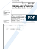 NBR 14626 - Equip Amen To de Protecao Individual Especificacao E Metodos de Ensaio