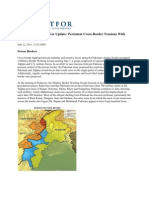 Afghanistan Weekly War Update Persistent Cross-Border Tensions With Pakistan