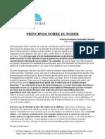PRINCIPIOS SOBRE EL PODER