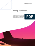 Testing for Airlines