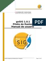 GvSIG 1 0 1 Raster Pilot Man 1 0 Es