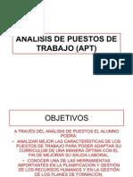 ANÁLISIS DE PUESTOS DE TRABAJO (APT)