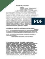 Projeto de lei nº 644 de 22/06/2011
