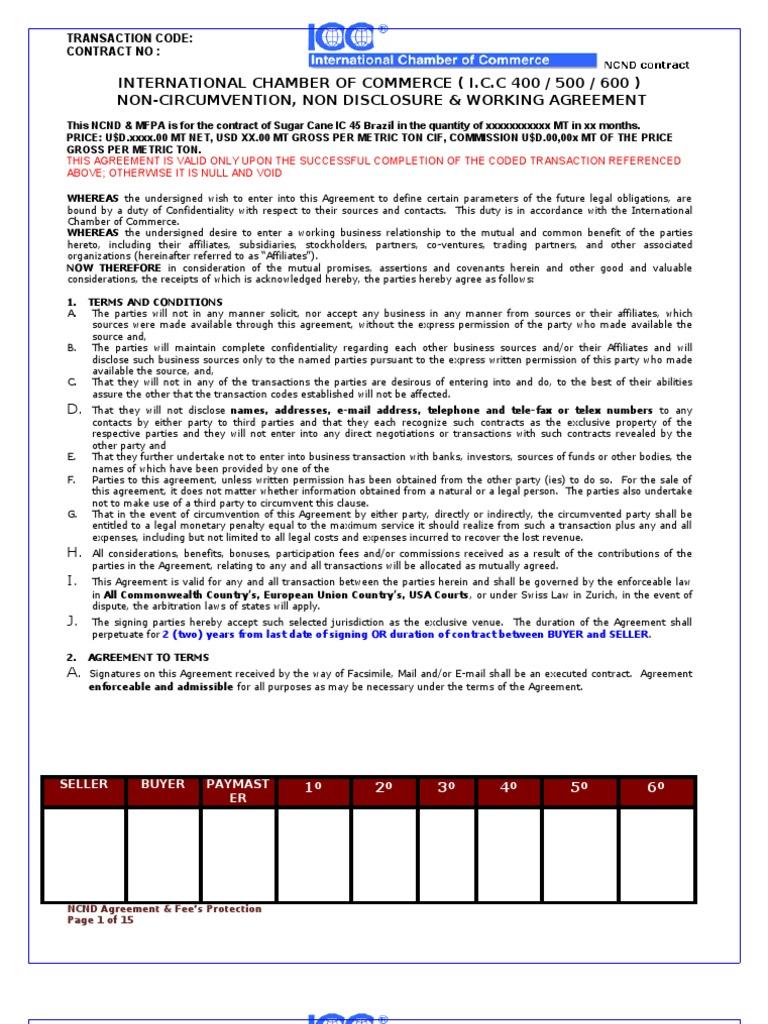 Ncnd Imfpa Model Official Arbitration Financial Transaction