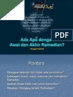 Ada Apa Dengan Awal dan Akhir Ramadhan ?
