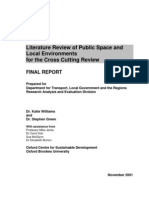 Lit Review on Aspects of Public Space
