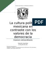 La cultura política mexicana en contraste con los valores de la democracia