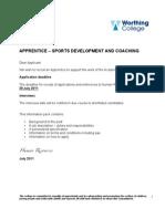 Apprentice - Sport Development and Coaching - July 2011